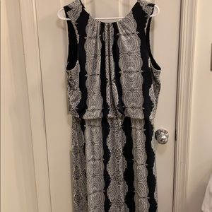 Paisley Maxi Dress with detailed bottom